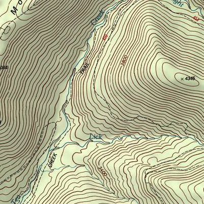cranberry and tea creek area usgs topographic maps trail graphics
