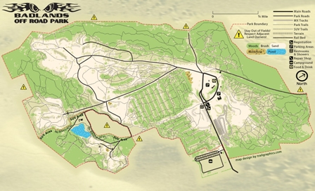 Badlands Off Road Park Map Trail Graphics