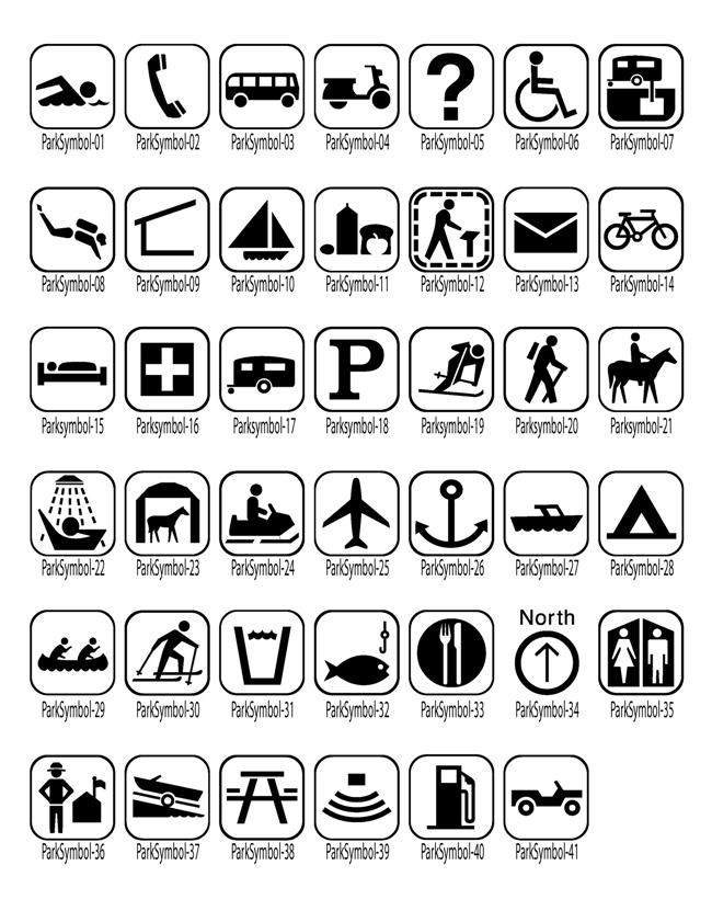 Map Symbols Trail Graphics
