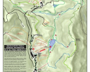 Snowshoe Mountian Hiking and Cross Country Map (2011)